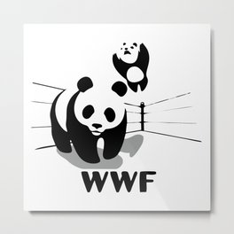 Wrestling WWF Panda Metal Print