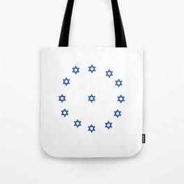 Star of David. A Clock.-Magen David,israel,judaism,bible, מָגֵן דָּוִד, jerusalem Tote Bag