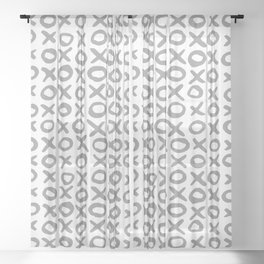 Xoxo Valentine's Day - Ultimate Gray Sheer Curtain