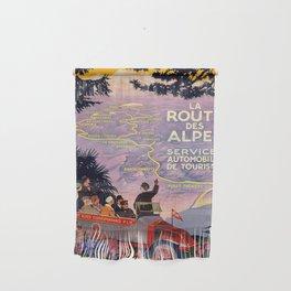 Vintage poster - Route des Alpes, France Wall Hanging
