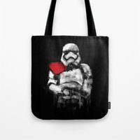 trooper Tote Bags featuring Trooper by Rafal Rola