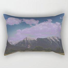 mountain town Rectangular Pillow