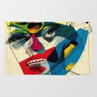 kandinsky Area & Throw Rugs featuring 041112 by Alvaro Tapia Hidalgo