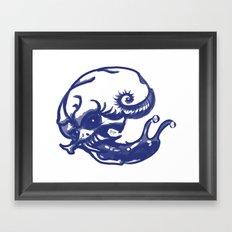 Slug skull Framed Art Print