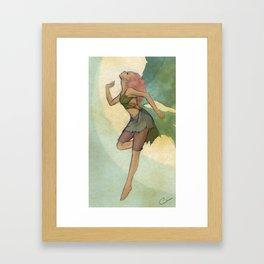 A Curious Fairy Framed Art Print
