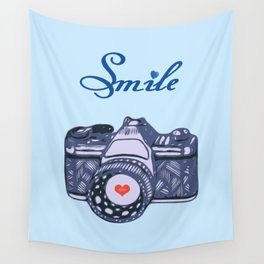 Let Your Smile Change the World.  Wall Tapestry