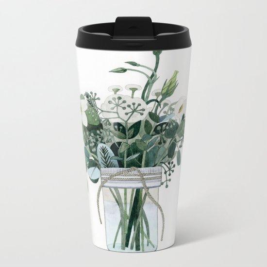 Forest Bouquet Metal Travel Mug