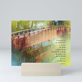 Serenity Prayer Long Bridge Mini Art Print
