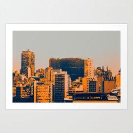 Sao Paulo Skyline II Art Print
