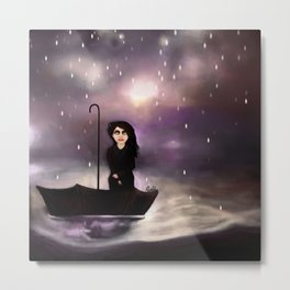 Floating through a coloured perfect world. Metal Print
