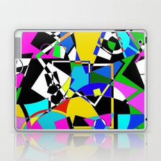 Colour Pieces - Geometric, eclectic, colourful, random pattern of shapes Laptop & iPad Skin