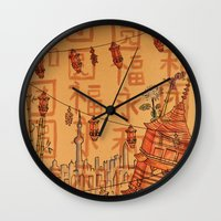 china Wall Clocks featuring China  by Nogah