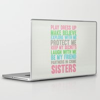sisters Laptop & iPad Skins featuring sisters by studiomarshallarts