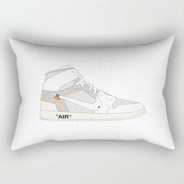 """N I K E AIR JORDAN THE 10: AIR JORDAN 1 """"OFF-WHITE"""" White Rectangular Pillow"""