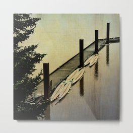 Rowing on the River Metal Print