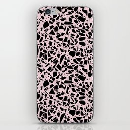 Terrazzo Spots Black on Blush Repeat iPhone Skin