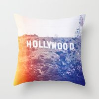 hollywood Throw Pillows featuring Hollywood by Laura Ruth