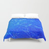 salt water Duvet Covers featuring water by Trauvsky