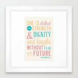 Proverbs 31 with Background Framed Art Print