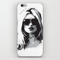 kate moss iPhone & iPod Skins featuring Kate Moss by Joanna Theresa Heart