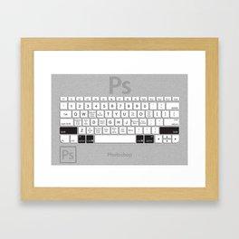 Photoshop Keyboard Shortcuts Brushed Metal Opt+Shift+Cmd Framed Art Print