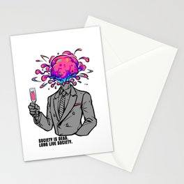 Society is dead, long live society. Stationery Cards