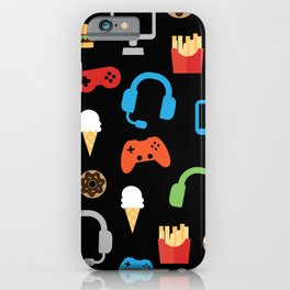 Video Game Party Snack Pattern iPhone Case