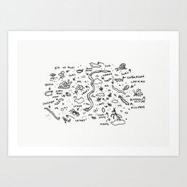 Friends to Find Under a Log Art Print