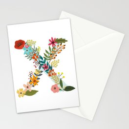Monogram Letter X Stationery Cards