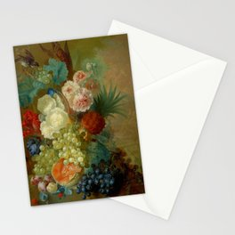 "Jan van Os ""Still life of peonies, a cock's comb and morning glories"" Stationery Cards"