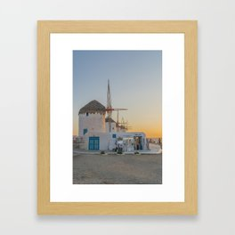 Mykonos Windmills by Pupina Framed Art Print