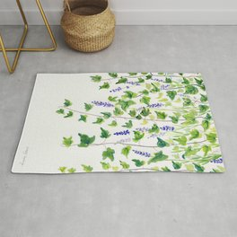 Ivy and Lavender Watercolor Rug