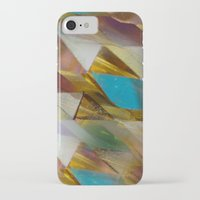 minerals iPhone & iPod Cases featuring Glow Geometry Minerals Pattern by mb13