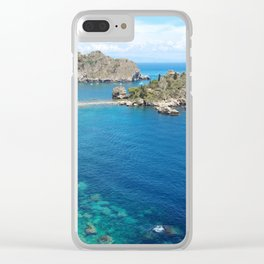 Turquoise water Clear iPhone Case