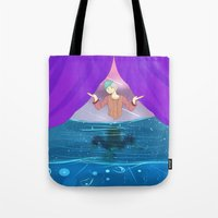 odd future Tote Bags featuring Future by John-Ace