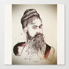 Beard's woman Canvas Print