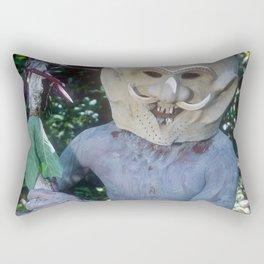 Exotic Travel Papua New Guinea Asaro Mudman Reenactment Rectangular Pillow