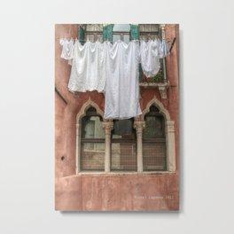 Venezia- Laundry day Metal Print