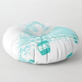 Mountains Sun Gondola Ski Nature Triangle Free Gift Floor Pillow