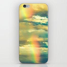 Rainbow Blue Sky Clouds iPhone Skin
