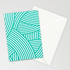 New Weave in Aqua Teal Stationery Cards