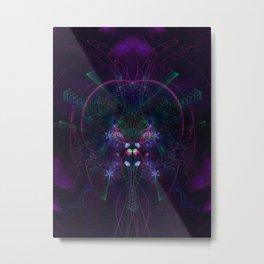 Flying Geometry Metal Print