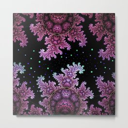 Magical fantasy patterns in purple, pink and green Metal Print