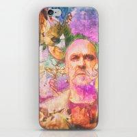 birdman iPhone & iPod Skins featuring Birdman by Psychedelic Astronaut