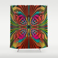 cyberpunk Shower Curtains featuring Tropica by Obvious Warrior