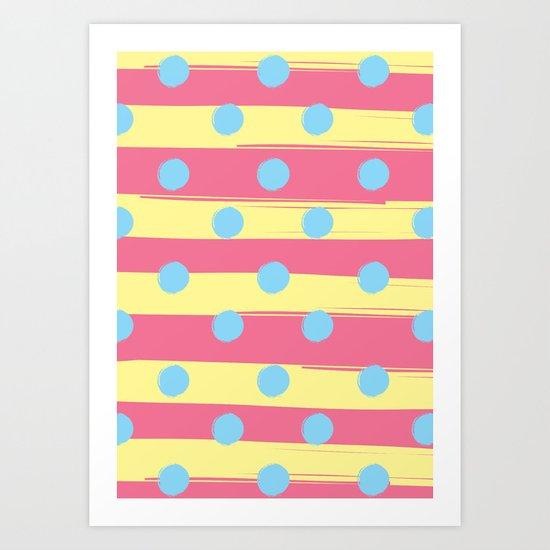 DOTS MEET STRIPES Art Print