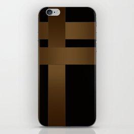 A satin ribbon . Black background . iPhone Skin