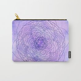 Waterolor Mandala FLower Carry-All Pouch