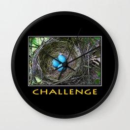 Inspirational Challenge Wall Clock