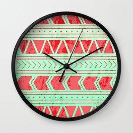 Watermelon Geometric Pattern Wall Clock